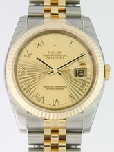 Rolex Datejust Men's 116233 Yellow Dial Watch