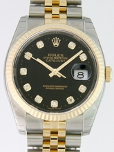 Rolex Datejust Men's 116233 Yellow Gold Case Watch