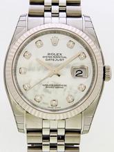Rolex Datejust Men's 116234 White Dial Watch