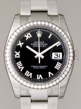Rolex Datejust Men's 116244 Black Dial Watch