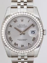 Rolex Datejust Men's 116244 Diamond Bezel Watch