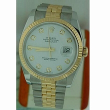 Rolex Datejust Men's 16233 Yellow Band Watch