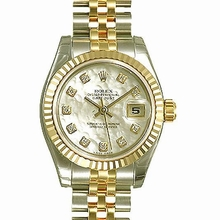 Rolex Datejust Midsize 178273 Diamond Dial Watch