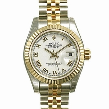 Rolex Datejust Midsize 178273 White Dial Watch