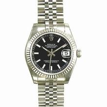 Rolex Datejust Midsize 178274 Black Dial Watch