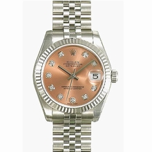 Rolex Datejust Midsize 178274 Diamond Dial Watch