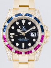 Rolex GMT-Master 116758 Yellow/Gold Band Watch