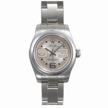 Rolex Oyster Perpetual 177200 Silver Dial Watch