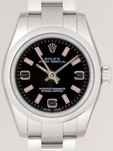 Rolex Oyster Perpetual Ladies 176200 Black Dial Watch