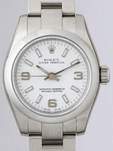 Rolex Oyster Perpetual Ladies 176200 White Dial Watch
