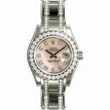 Rolex Pearlmaster - Ladies 80299 White Band Watch