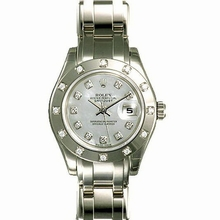 Rolex Pearlmaster - Ladies 80319 Diamond Dial Watch