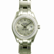 Rolex Pearlmaster - Ladies 80339 Diamond Dial Watch