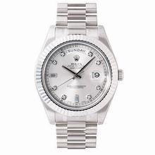 Rolex President II 218239 Silver Dial Watch