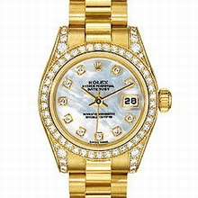 Rolex President Ladies 179158 Diamond Dial Watch