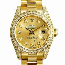 Rolex President Ladies 179158 Yellow Band Watch
