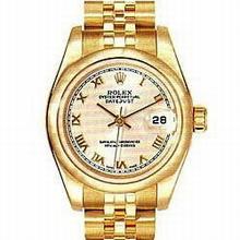 Rolex President Ladies 179165 Yellow Dial Watch