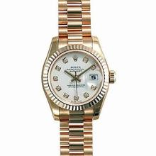 Rolex President Ladies 179175 Diamond Dial Watch