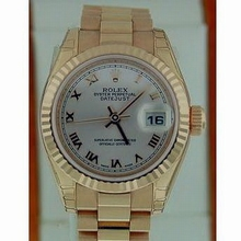 Rolex President Ladies 179175 Rose Band Watch
