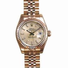 Rolex President Ladies 179175 Rose Dial Watch