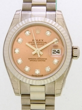 Rolex President Ladies 179179 Orange Dial Watch