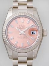 Rolex President Ladies 179179 Pink Dial Watch