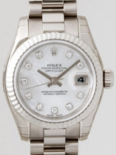 Rolex President Ladies 179179 White Dial Watch