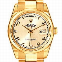 Rolex President Men's 118205 Gold Dial Watch