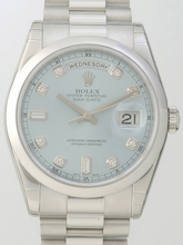Rolex President Men's 118206 Blue Dial Watch