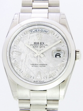 Rolex President Men's 118206 Grey Dial Watch