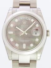 Rolex President Men's 118209 Black Dial Watch