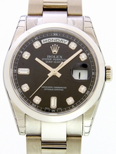 Rolex President Men's 118209 Gold Band Watch
