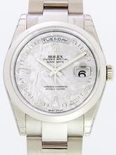 Rolex President Men's 118209 Grey Dial Watch