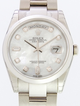 Rolex President Men's 118209 White Dial Watch