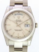 Rolex President Men's 118209 White Gold Case Watch