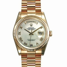 Rolex President Men's 118235 Gold Band Watch