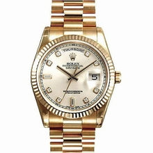 Rolex President Men's 118235 Rose Gold Case Watch