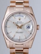 Rolex President Men's 118235 Silver Dial Watch