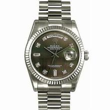 Rolex President Men's 118239 Black Dial Watch