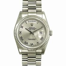 Rolex President Men's 118239 Silver Dial Watch