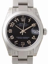 Rolex President Midsize 178240 Black Dial Watch