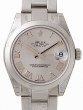 Rolex President Midsize 178240 Silver Band Watch
