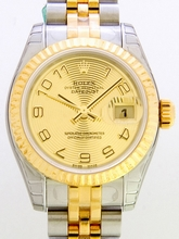 Rolex President Midsize 179173 Yellow Dial Watch