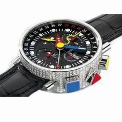 Alain Silberstein Krono Bauhaus II 2 Diamant Mens Watch