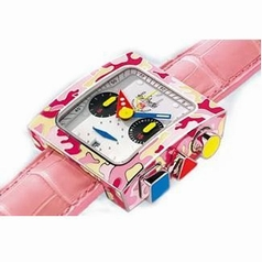 Alain Silberstein Pave Collection Ice Cream Ladies Watch