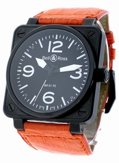 Bell & Ross BR01 BR-01-92-BLK-CAR-LS Mens Watch
