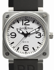 Bell & Ross BR01 BR 01-92 White Dial Mens Watch