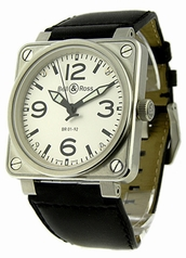Bell & Ross BR01 BR-01-92-WHT-LS Mens Watch