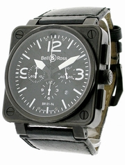 Bell & Ross BR01 BR-01-94-BLK-CAR-LS Mens Watch