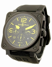 Bell & Ross BR01 BR-01-94-BLK-SBLA-YEL Automatic Watch